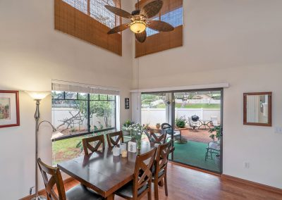 Dining area overlooking outside patio for sale house in Royal Kunia