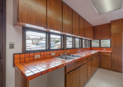 Lots of tiled counter space from the kitchen in Aiea Heights house for sale