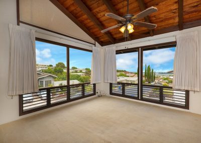 Ocean view from Aiea Heights living room house for sale