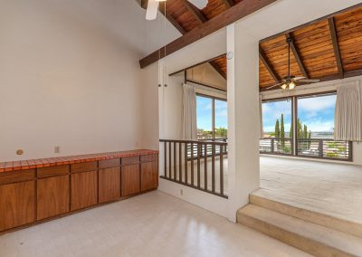 Dining room that opens up to the living room in Aiea Heights house for sale
