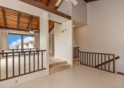Dining room leads to downstairs garage in home for sale in Aiea Heights