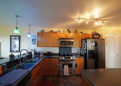 Large kitchen with a lot of cabinet space and storage at Makakilo town house for sale