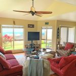 Living room space with ocean views at Makakilo town house for sale