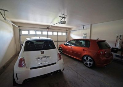 2 car garage with garage door at Makakilo town house for sale