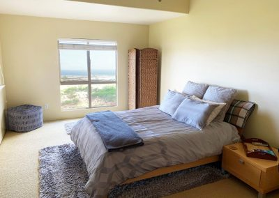 Master bedroom with ocean view at Makakilo town house for sale